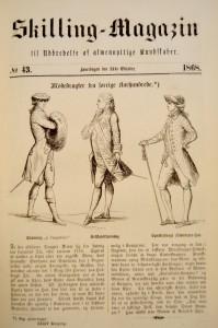 Skillings Magazin fra 245. oktober 1868 med den første publiserte fortellingen av Elisabeth Welhaven.