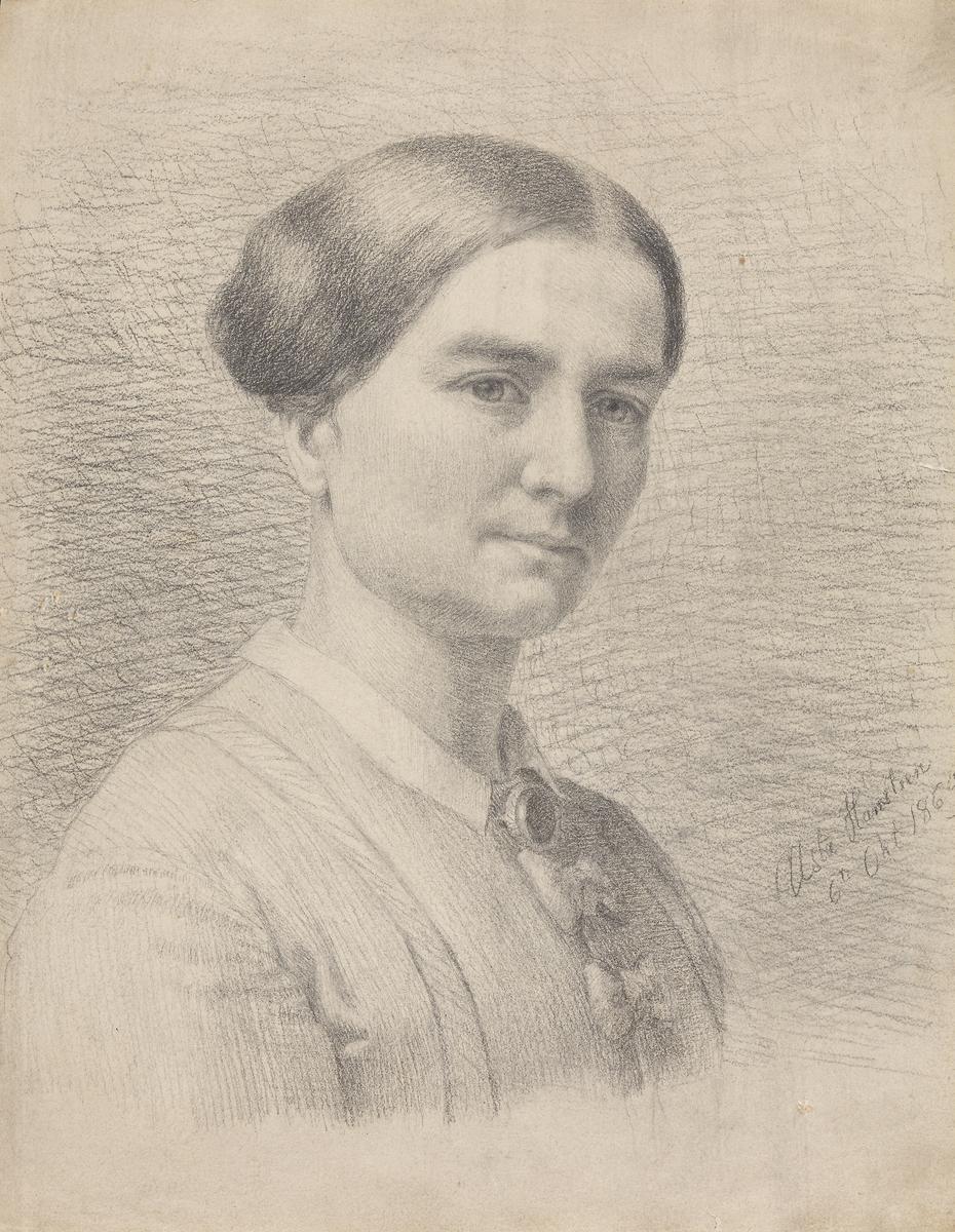 Aasta Hansteen, selvportrett 1869.